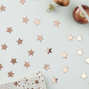 Ginger Ray Rose Gold Star Shaped Party Celebration Table Confetti - Metallic Star