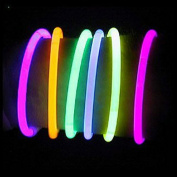 Vi.yo Pack of 50 Glowsticks Glow Stick Bracelets Wrist Band Neon Necklace for Birthday Party Favours with Connectors, 20cm Mixed Colour