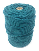 Colour Macrame Craft Cord Twisted Rope 100% Dyed Cotton 1KG Reel – TEAL piping cord, washing line, piping cord, furniture wrapping, plant hangers, wall hangings