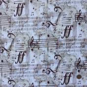 Musical Moments, 100% Cotton Fabric, sold per half metre, 112cm wide or per fat quarter (size