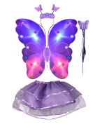 THEE 4pcs LED Butterfly Wing Costume