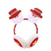 yipinco7285 Christmas Earmuffs Headband Ear Warmers for Kids Adults size Santa Claus
