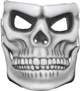 Mens Fancy Halloween Dress Party Mexican Day Of The Dead Skeleton Mask White