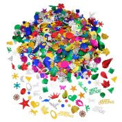 Glitter Confetti Sequins in Mixed Colours and Shapes, Good for Christmas DIY Arts and Crafts Birthday Party Holiday Decorations