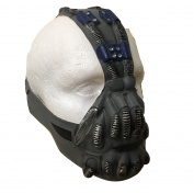 UK Halloween Carnival Cosplay Bane Latex Cosplay Full Head Helmet Mask - Universal Size Bain Batman