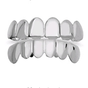 VWH Removable Teeth Double Hip Hop Teeth Grillz Bling Silver Plated