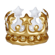 JuneJour Plastic Inflatable Crown Photo Booth Selfie Prop King Queen The Day Costume Birthday Party Gift Accessory