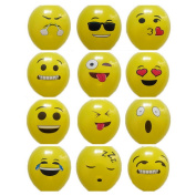 JuneJour 10Pcs Colour Random Latex Balloons Emoticon Smiley Face Birthday Celebration Party Decoration Christmas Balloons 30cm