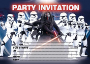 10 x Children Birthday Party Invitations Star Wars