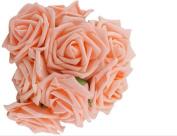 LAAT 10PCS Fashion Foam Rose Beauty Bridal Bouquet Rose Flower Artificial Foam Rose Bouquet PE Floral Flowers DIY Rose Flowers for Wedding Party Decor -7cm