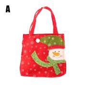 Romancy Santa Claus Snowman Candy Gift Bags Handbag Merry Christmas Storage Package