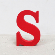 Wooden Letters, Xshuai® Wood Wooden A- & -Z Letters Red Alphabet Word Free Standing for Wedding Birthday Party Home Decorations