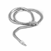 erthome 1x Fashion Exaggerated Dual-purpose Gold / Sliver Long Shape Snake Necklace