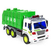 Best Choice Products 1/16 Scale Friction Powered Toy Recycling Garbage Truck w/ Lights and Sound
