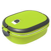 Gloryhonor 2/1 Layer Stainless Steel Insulated Bento Lunch Box Food Container Storage Box