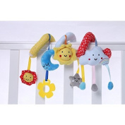 FlowerKui Star Moon Bed Trolley Pendant Cloud Sun Bed Hanging Baby Puzzle Toy Bed Hanging