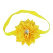 bismarckbeer Baby Girls Cute Lotus Flower Hair Band Elastic Headband Toddler Hair Hoop