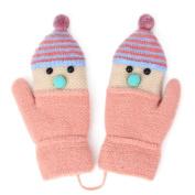Zelta Unisex Baby Knitted Mitten Santa Hat Design Gloves