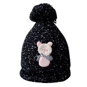 Saihui Fashion Baby Children Cute Ball Cap Keep Warm Winter Hats Knitted Wool Hemming