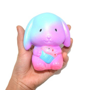 TIREOW Squishy Cute Exquisite Galaxy Bunny Scented Squeezing Soft Slow Rising Decompression Toy