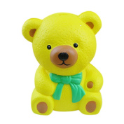 Rcool Creative Stress Reliever Squishy Squeeze Cute Finger Bear Doll Super Slow Rising Fun Soft Toy Cellphone Key Chain Charm Pendant Strap Kid Gift