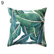 45x45cm Opuntia Cactus Green Leaves Print Pillow Case Cushion Cover Home Decor