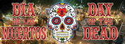 56cm Halloween Day Of The Dead PVC Banner