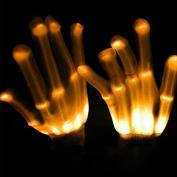 LED Skeleton Gloves Light Up Rave Gloves Glow in the Dark LED Gloves Halloween Costume Novelty Christmas Gift