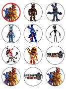 30cm x 5.3cm Five Nights at Freddy's Edible Icing Birthday Cup Cake Toppers