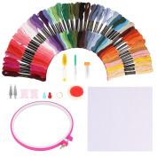 SOLEDI Embroidery Floss Embroidery Thread Rainbow Colour Cross Stitch Floss
