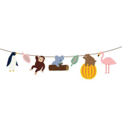 Chinget Animal Style Bunting Garland Banner for Kids Party Wall Decoration Festival Decoration