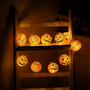 LED String Lights, Xinantime Halloween Pumpkin 10 Warm White Decoration Lights