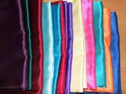 Silky Satin Fabric 147cm width. 34 colour options Sold by the metre, Free Delivery - Orange