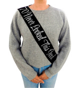"""""""70 Never Looked This Good"""" Black Glitter Satin Sash – Happy 70th Birthday Party Supplies, Ideas and Decorations- Funny Birthday"""