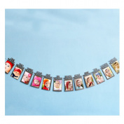 VWH 1st Birthday Bunting Garland Banner Baby Girl Boy Party Decor Photo Prop 12Pcs