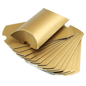 Yalulu 50PCS Kraft Paper Pillow Candy Box For Wedding Christening Party Favour Boxes