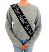 """""""60 Never Looked This Good"""" Black Glitter Satin Sash – Happy 60th Birthday Party Supplies, Ideas and Decorations- Funny Birthday"""