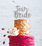 Team Bride Hen Party Cake Topper - Bride to Be Glitter Silver Cake Topper