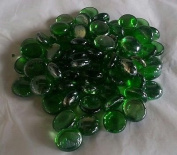 500g app 115 of GREEN Glass Pebbles/Stones/Gems/Nuggets /Beads 17 - 20mm