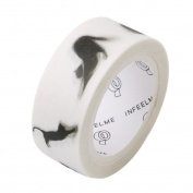 Chinget Decorative Washi Tape Black Cat Pattern Masking Tape Scrapbook DIY Craft Gift