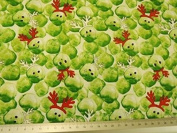 Cotton Fabric Festive Sprouts 112cm Width, 3 colour options Sold by the metre, Free Delivery - Cream