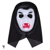 RUNGAO Ghost Scream Face Costume Party Hood Horror Halloween Mask Fancy Stylish