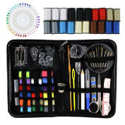 Sewing Kit, Emergency Travel Sewing kit Over 120 Premium Sewing Supplies with Tread, Sewing Pins, Needles, Tape Measure and Accessories for kids, Beginners, Adults,Camping