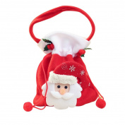 17YEARS Christmas Gift Santa Claus Snowman Bear Xmas Candy Bag Velvet Drawstring Pouch size Santa Claus