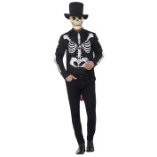 X Large Mens Day of the Dead Senor Skeleton Halloween Fancy Dress Costume with Mask