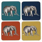 Harlequin Savanna Elephant Coasters x 4