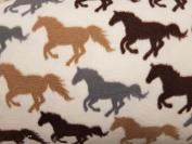 Anti Pil Polar Fleece Fabric Material For Bedding Textile Craft - Horses