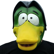 Donald duck ducks with beak mask mask head made of very high quality latex material with openings to eyes Halloween carnival carnival costume fairing for adults men and women women men creepy creep zombie monster demon horror party party