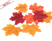 Artificial Maple Leaves, MerryNine Autumn Fall Leaves Bulk Assorted Multicolor Mixed Garland Wedding House Decorations