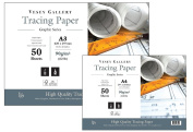 A3 Tracing Paper Pad by Vesey Gallery. Heavy Professional Quality. Weight 90gsm.50 Pages Made in UK